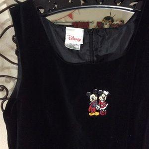 Disney Dresses - SOLD PLATOS Disney Christmas Dress Black Velvet